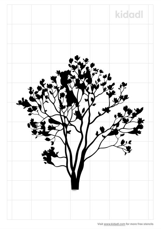 magnolia-tree-stencil