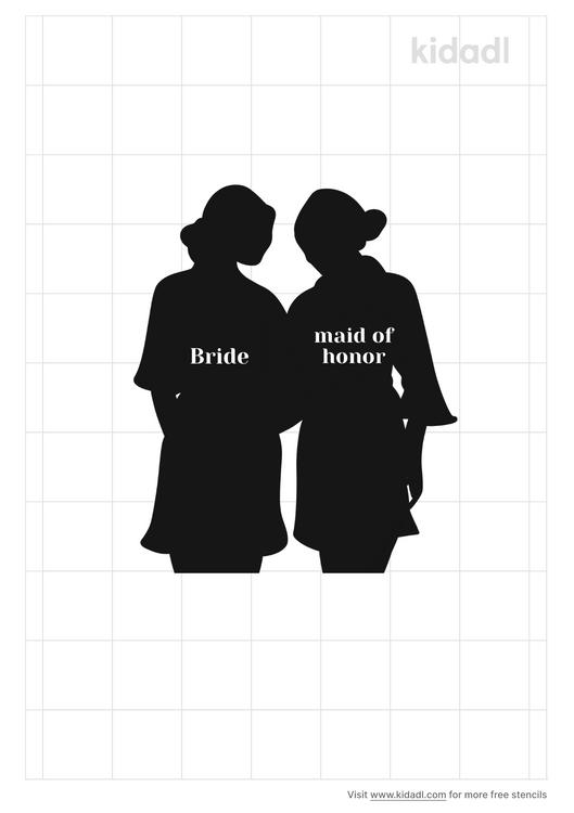 maid-of-honor-stencil