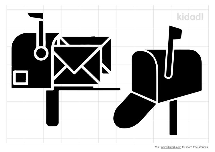 mailboxes-stencil