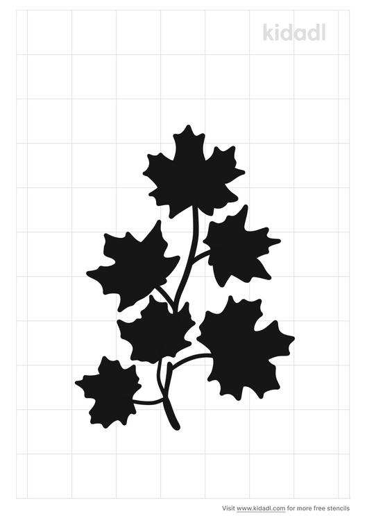 maple-leaf-branch-stencil
