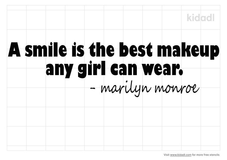 marilyn-monroe-quote-stencil