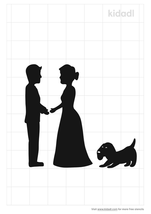 married-couple-with-dog-stencil