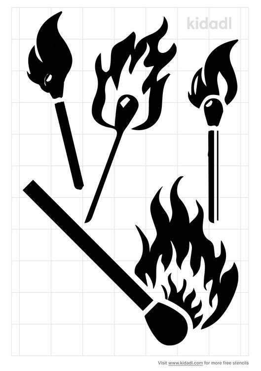 match-flame-stencil