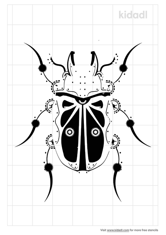 mechanical-insect-stencil