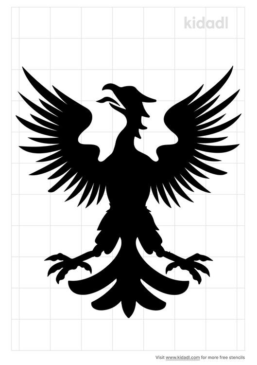 medieval-eagle-symbol-stencil