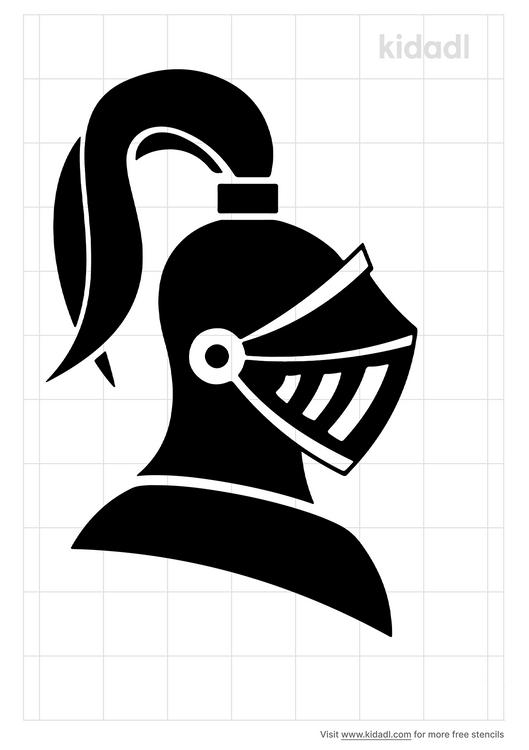 medieval-knight-helment-stencil
