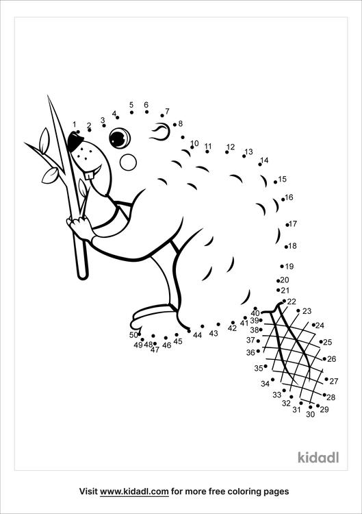 medium-beaver-dot-to-dot