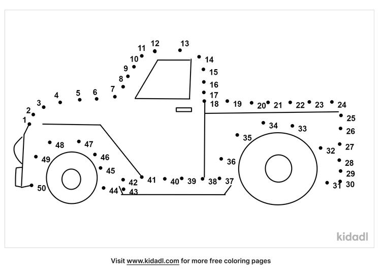 medium-pick-up-truck-dot-to-dot