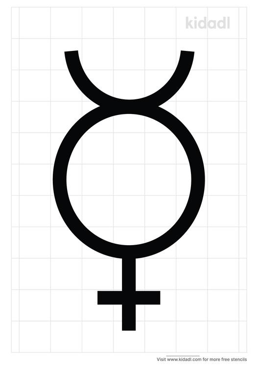 mercury-symbol-stencil