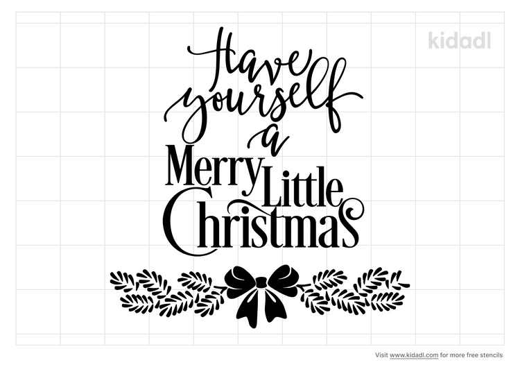 merry-little-christmas-stencil