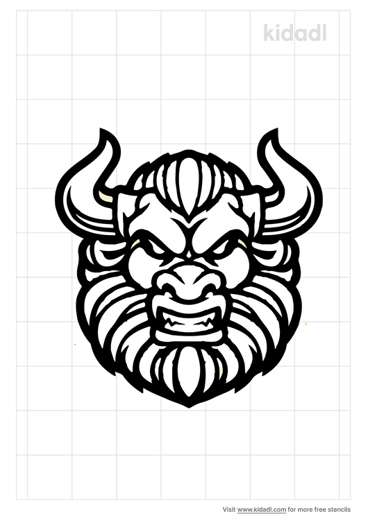 minotaur-face-stencil