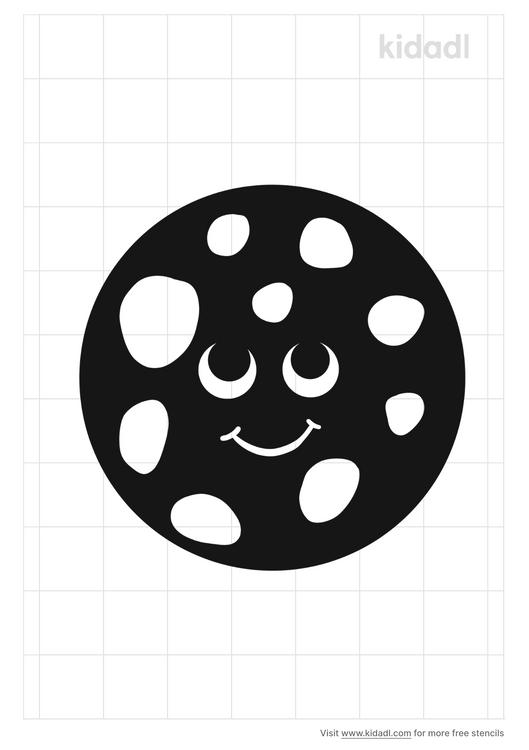 moon-face-stencil