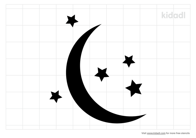moon-with-stars-stencil