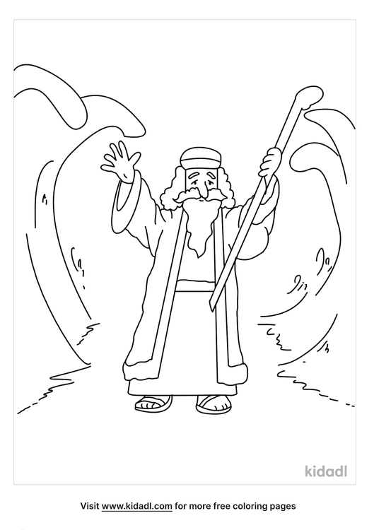 moses-parting-the-red-sea-coloring-page