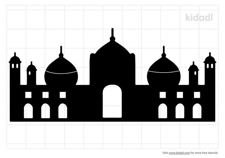 mosque-stencil