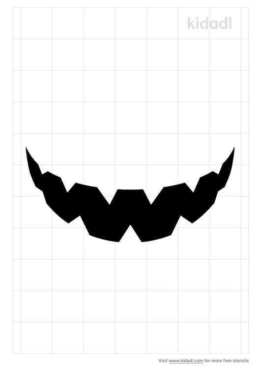 mouth-stencil