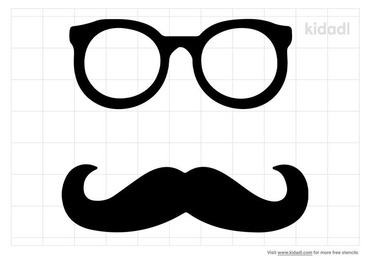 mustache-and-glasses-stencil