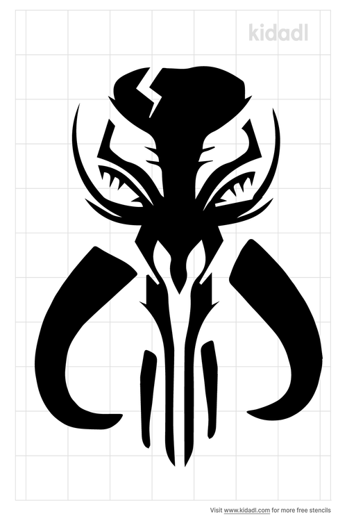 mythosaur-skull-stencil