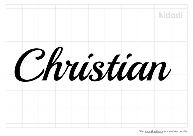 name-christian-stencil