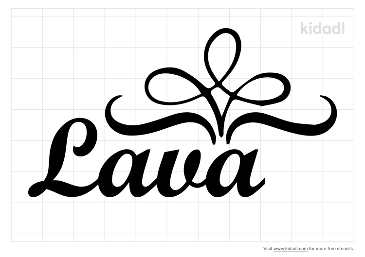 name-lava-stencil