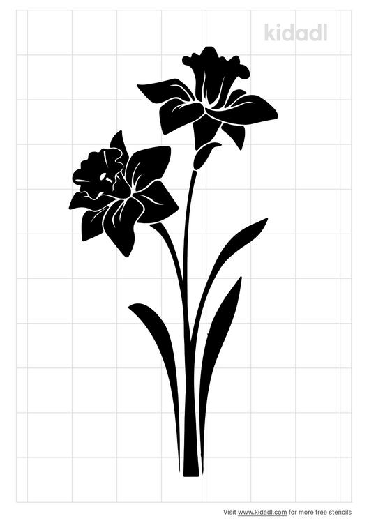 narcussus-flower-stencil