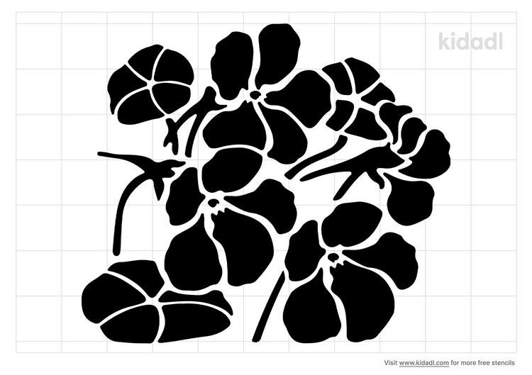 nasturtium-stencil