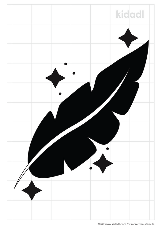 native-american-feather-stencil