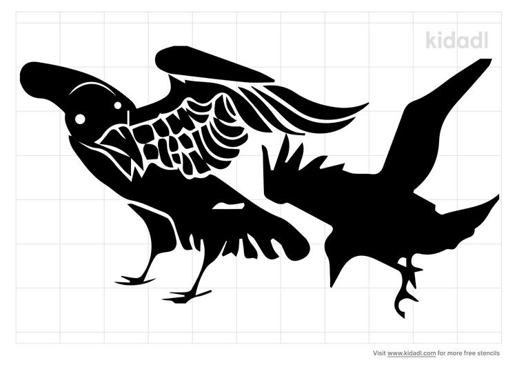 native-american-raven-stencil