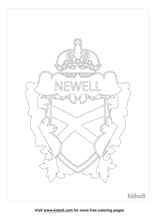 newell-family-crest-coloring-page.png