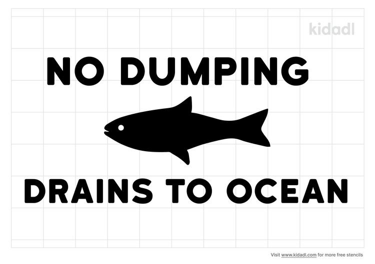 no-dumping-drains-to-ocean-stencil