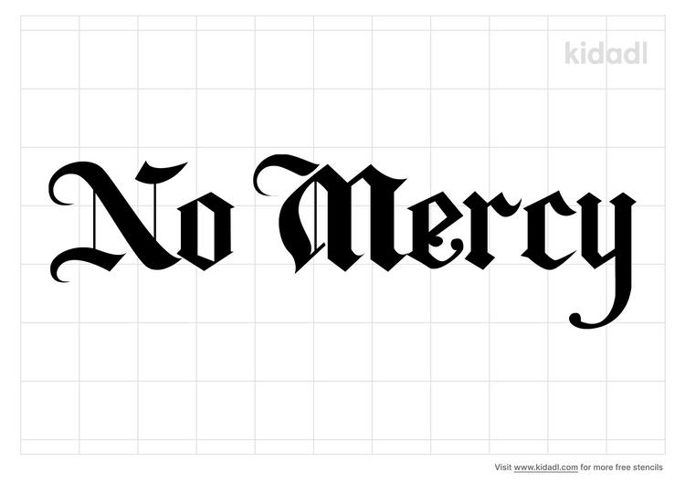no-mercy-stencil