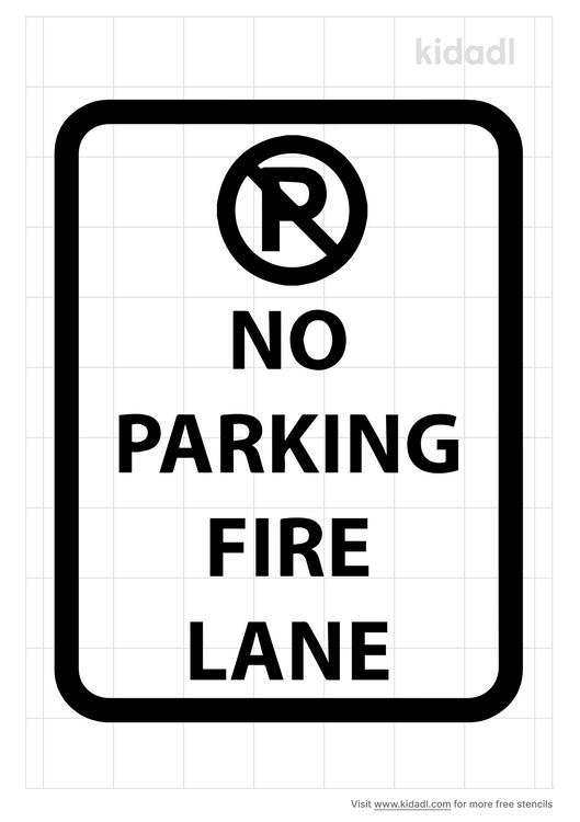no-parking-fire-lane-stencil