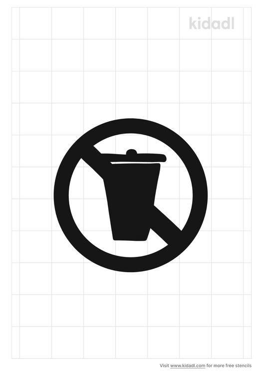 no-trash-sign-stencil