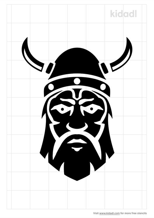 nordic-warrior-stencil
