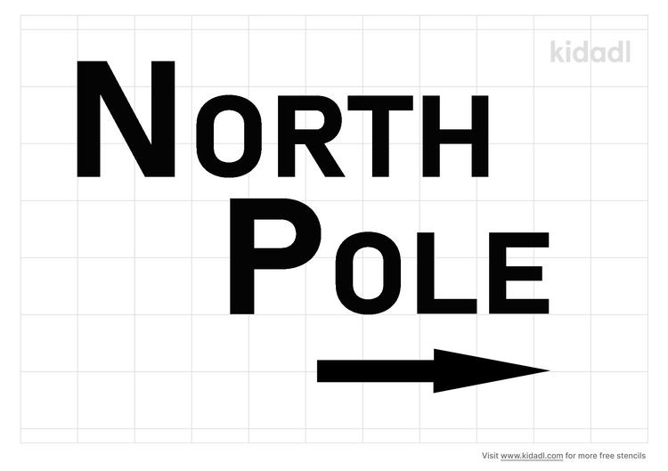 north-pole-stencil