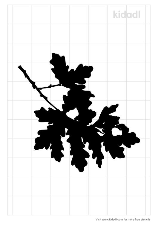 oak-branch-stencil
