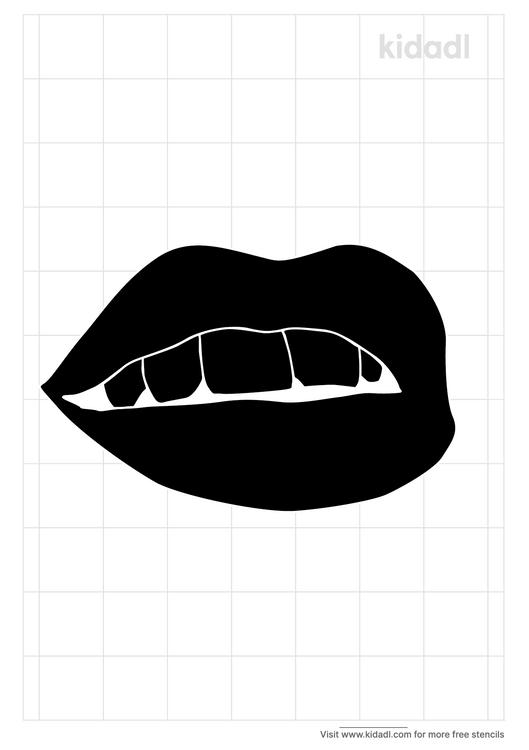 open-mouth-stencil