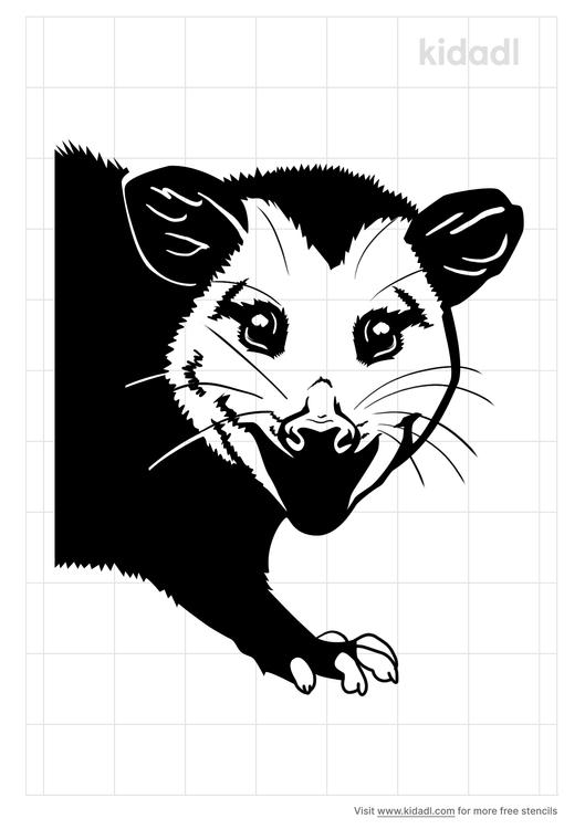 opossum-stencil