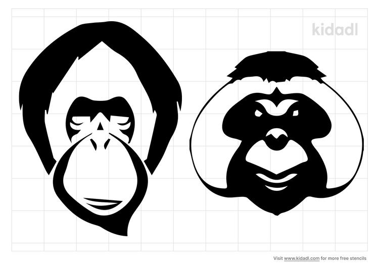 orangutan-stencil
