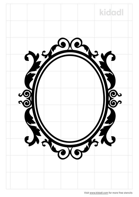 oval-frame-stencil