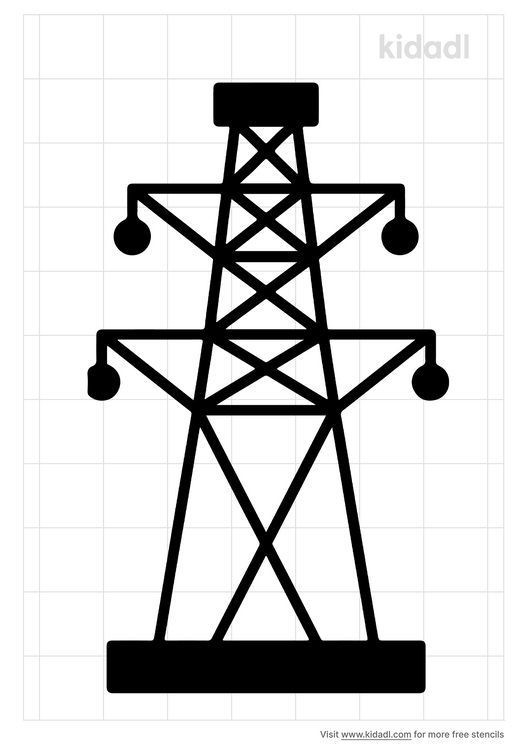 overhead-power-line-stencil