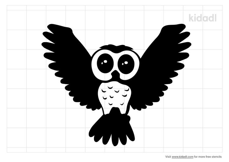 owl-flying-stencil