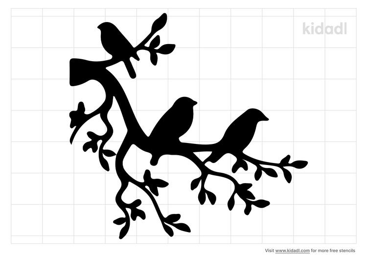 pajaro-stencil