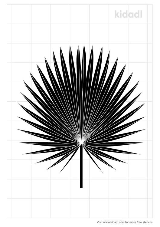 palm-branch-stencil