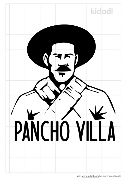 pancho-villa-stencil
