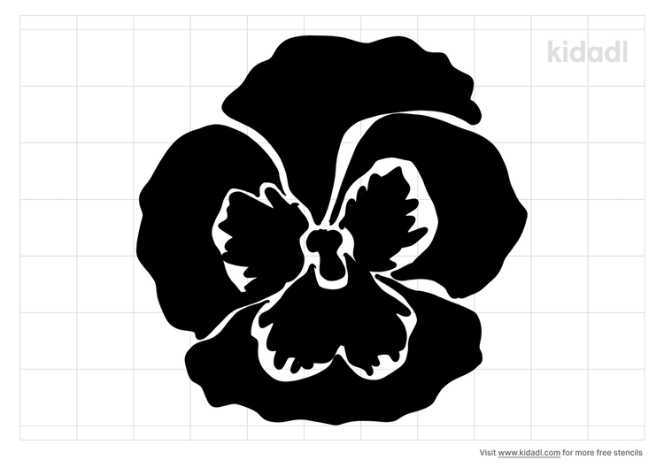 pansy-flowers-quilting-stencil