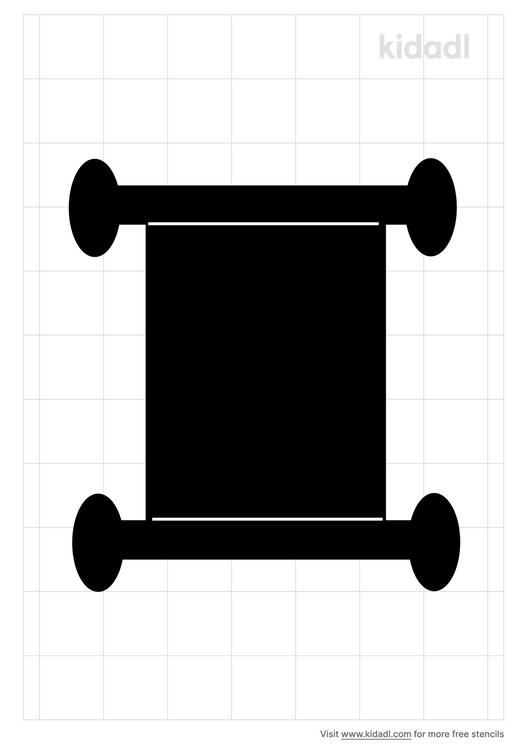 parchment-scroll-stencil
