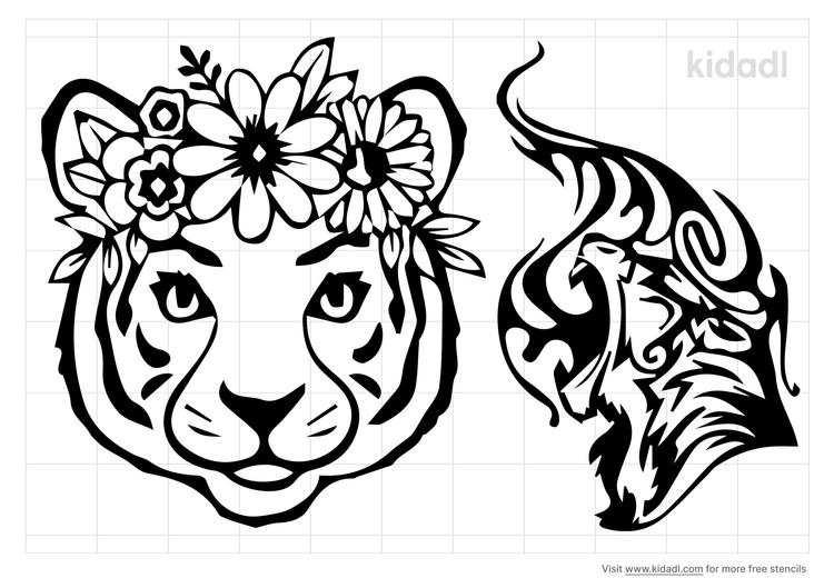 patterned-tiger-stencil