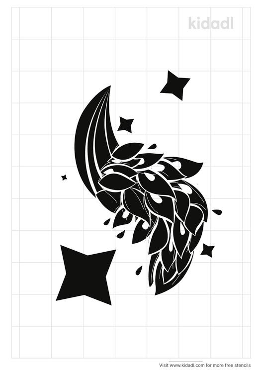 peacock-tail-stencil
