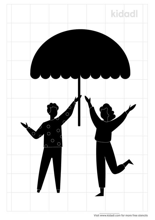 people-standing-under-an-umbrella-stencil